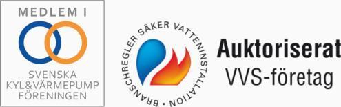 Medlem i Svenska Kyl & Värmepumpföreningen. Auktoriserat VVS-företag